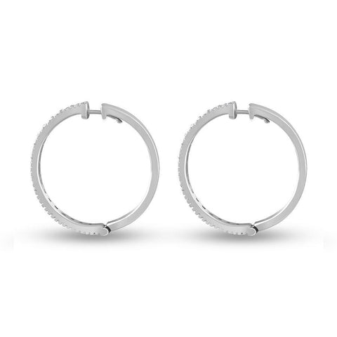 The Gwen Hoops Small (White)