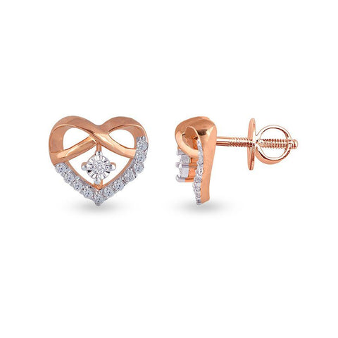 Contemporary Studs and Tops in Rose Gold