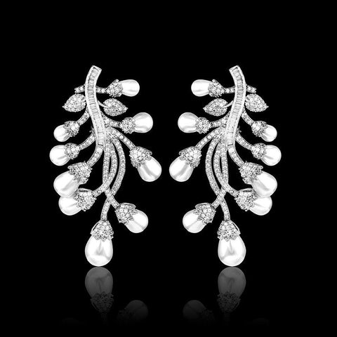 Image of Floral Statement Earrings