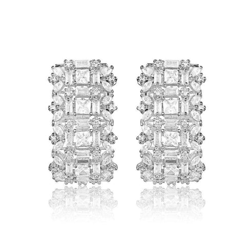 Image of White Huggies Earrings
