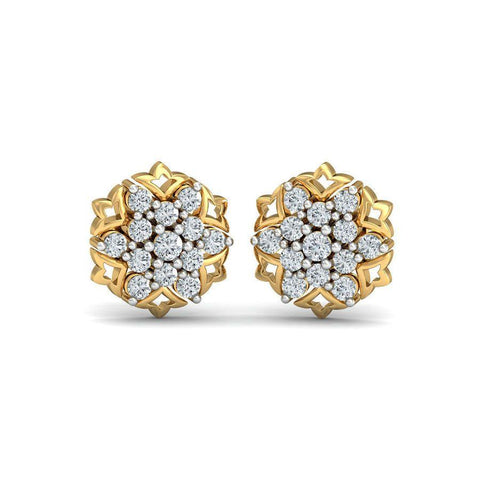 Image of Diaashi Diamond Nakshatra Earrings