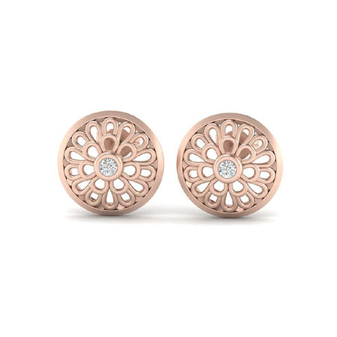 Image of Modern Studs and Tops in Rose Gold
