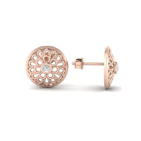 Modern Studs and Tops in Rose Gold