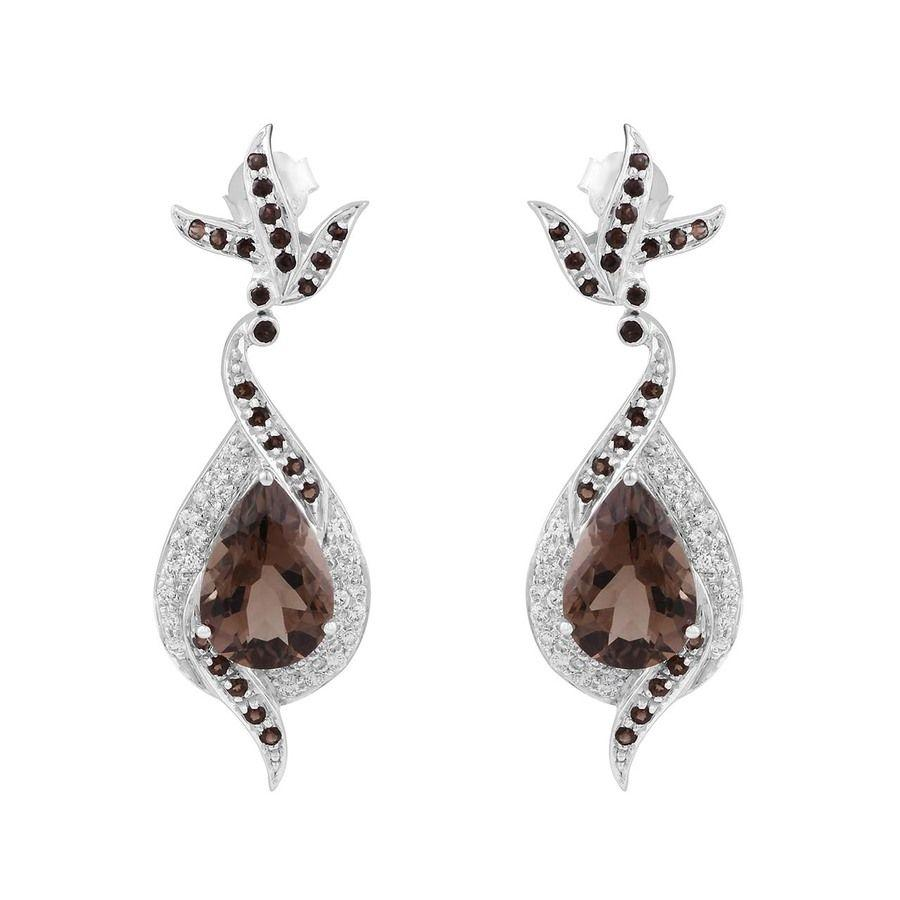 925 Sterling Silver Earrings with Quartz