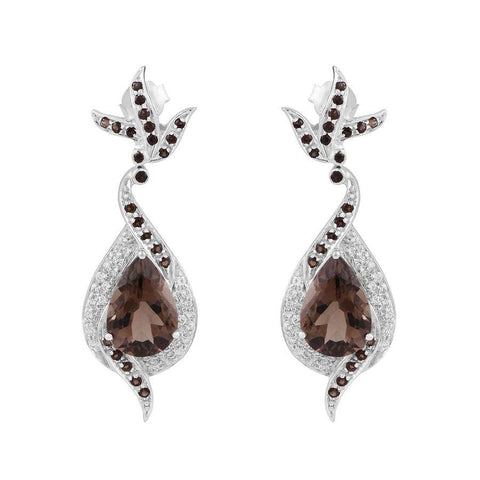 Image of 925 Sterling Silver Earrings with Quartz