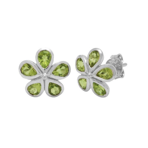 925 Sterling Silver Studs with Peridot