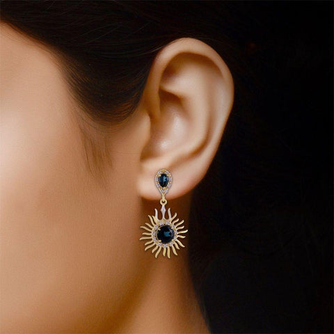 Image of Designer Trishul Earrings in 925 Silver