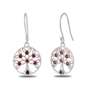 Designer Tree of Life Earrings by Allure