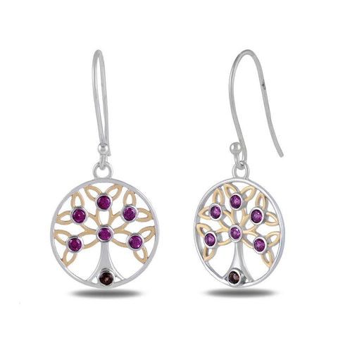 Image of Designer Tree of Life Earrings by Allure