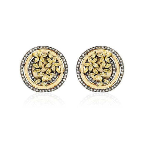 Image of Floral Trance Stud Earrings