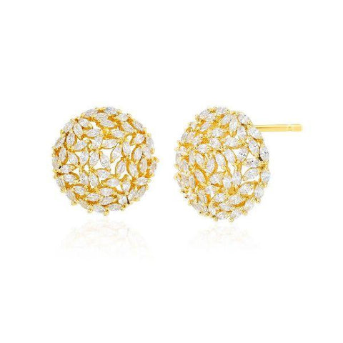 Image of Cluster Marquise Earrings