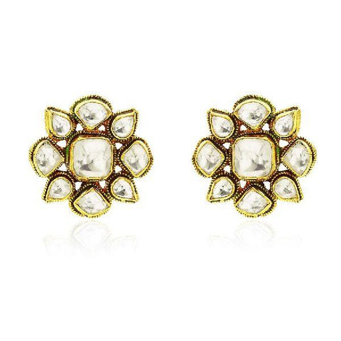 Baroque Traditional Flower Stud Earrings