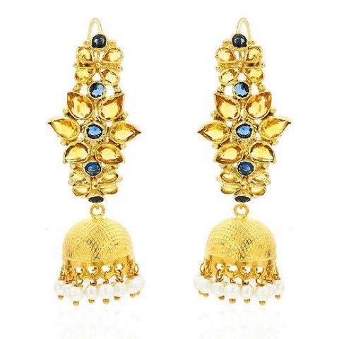 Image of Multiflower Jhumka Hanging Earrings