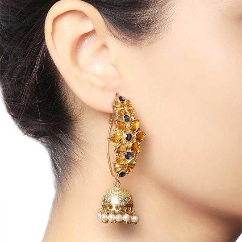 Multiflower Jhumka Hanging Earrings