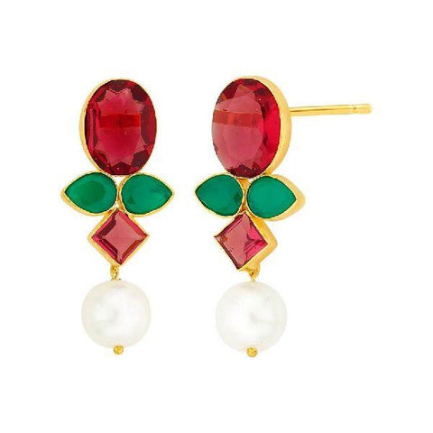 Image of Onyx Pearl Earrings