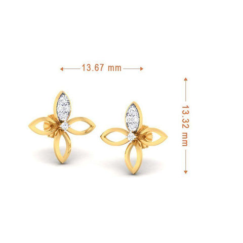 Image of Fashion Studs and Tops in Yellow Gold