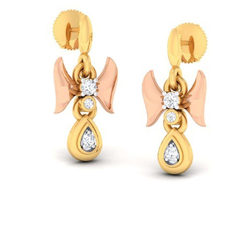 Fashion Danglers and Drops in Yellow Gold