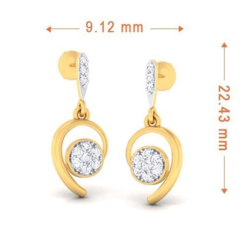 Image of Fashion Danglers and Drops in Yellow Gold