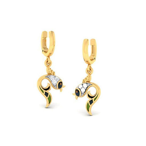 Image of Trendy Danglers and Drops in Yellow Gold