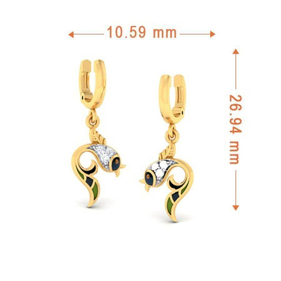 Trendy Danglers and Drops in Yellow Gold