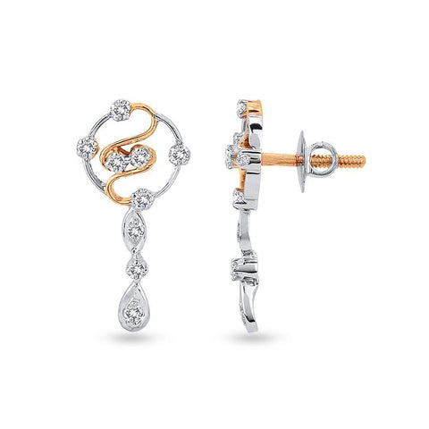 Trendy Danglers and Drops in White Gold