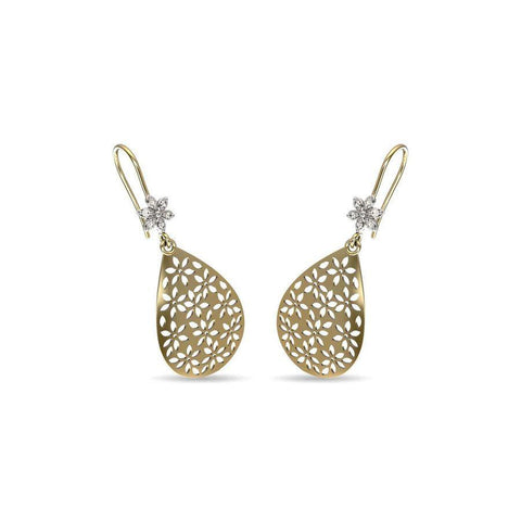 Image of Flora Cutout Diamond Earrings