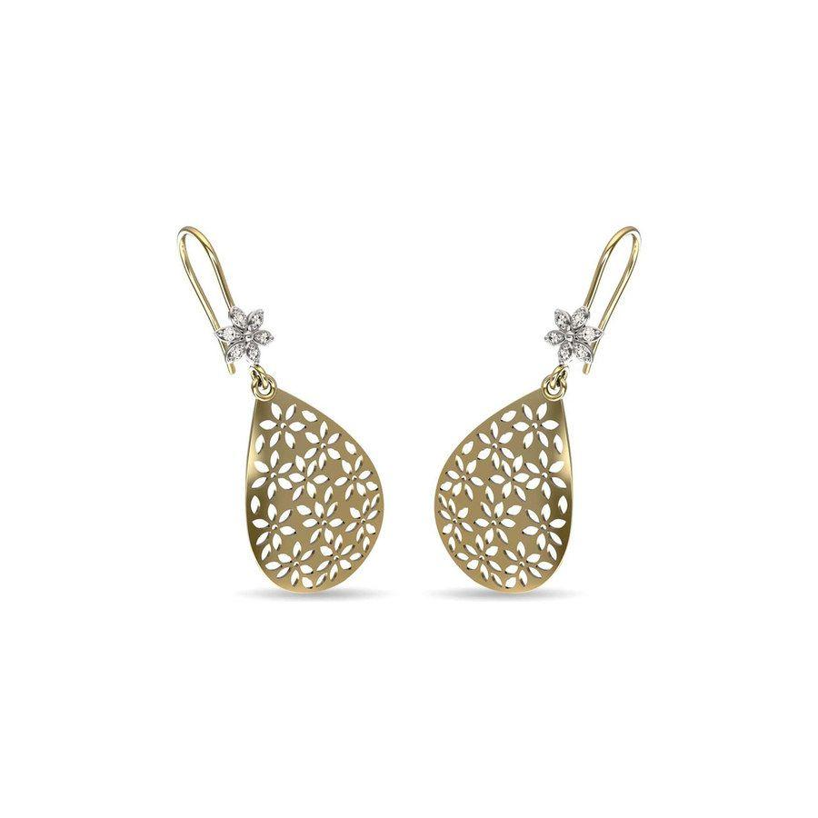 Flora Cutout Diamond Earrings