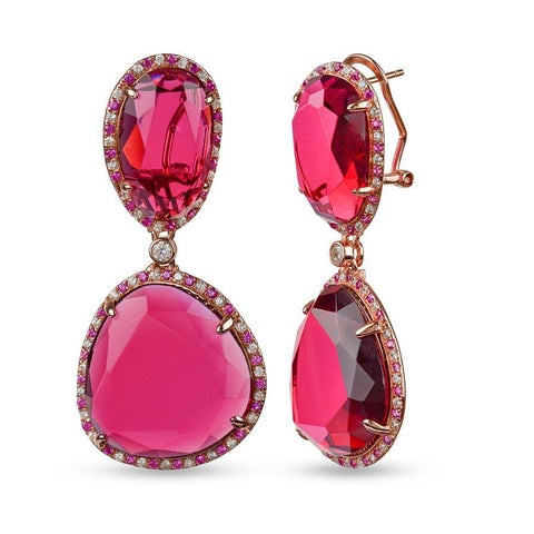 Ruby Red Danglers Earrings