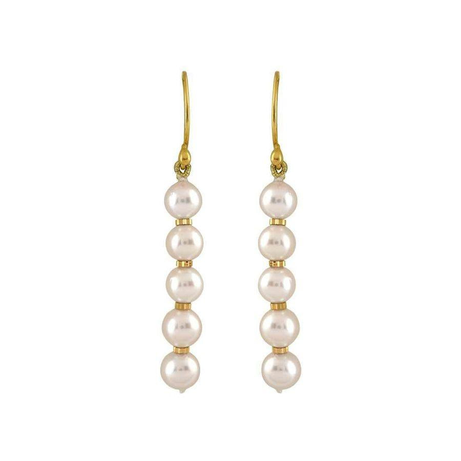 Single- line Freshwater pearl earrings