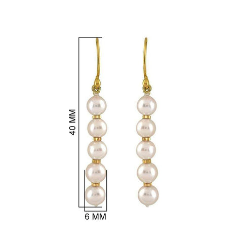 Image of Single- line Freshwater pearl earrings