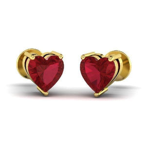 Heart Gemstone Studs (0.72 ct t.w.)