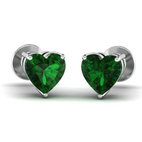 Heart Gemstone Studs (1.1 ct  t.w.)