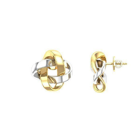 Image of 925 KT Silver Yellow Gold Plated Tops in 3 gms