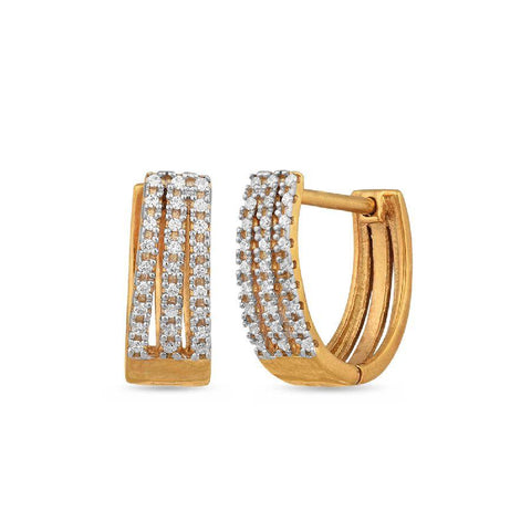 Silver and Cubic Zirconia Neo Hoops and Balis