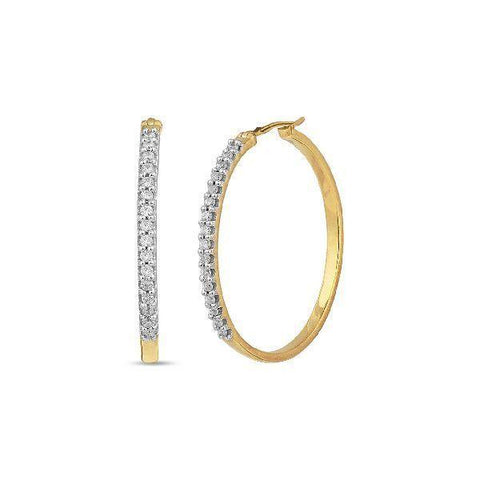 Image of Silver and Cubic Zirconia Stylish Hoops and Balis