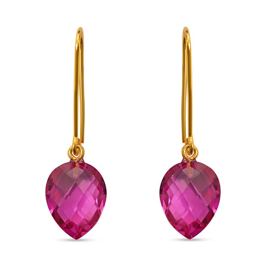 Synthetic Ruby Trendy Danglers and Drops