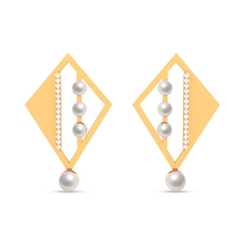Image of Fashion Pearl Modish Danglers and Drops