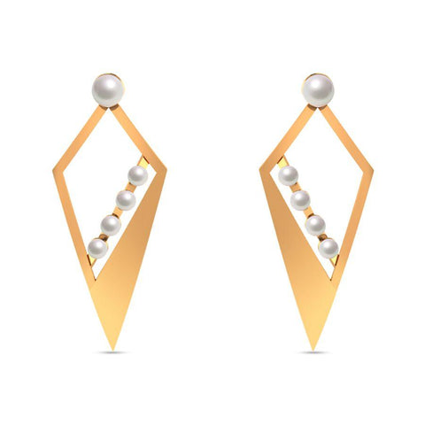 Image of Fashion Pearl Trendy Danglers and Drops
