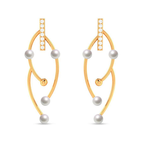 Fashion Pearl Modish Statement Earrings