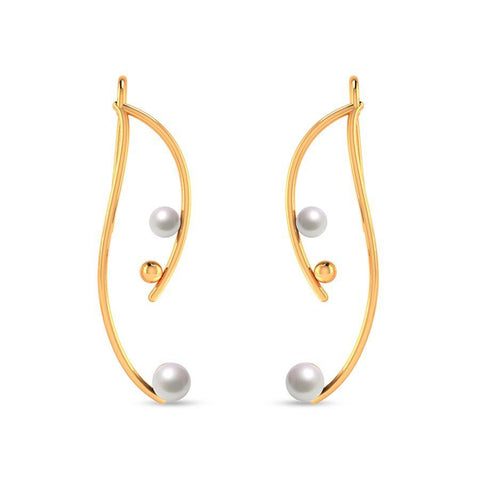Image of Fashion Pearl Trendy Statement Earrings