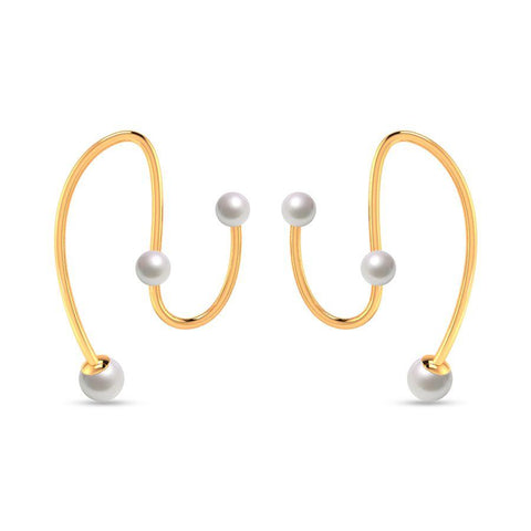 Image of Fashion Pearl Modish Statement Earrings
