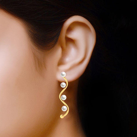 Fashion Pearl Trendy Statement Earrings