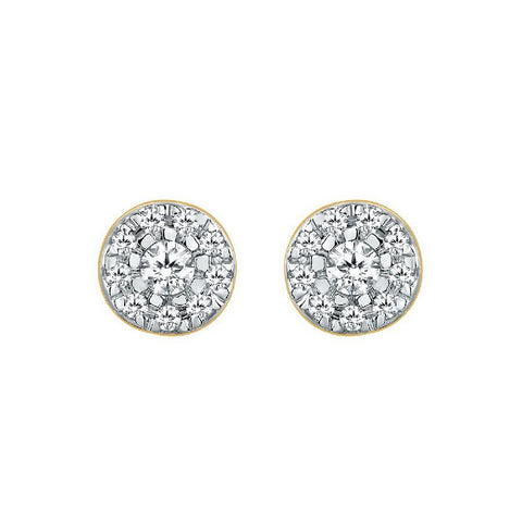 Image of Classic Studs and Tops in Yellow Gold