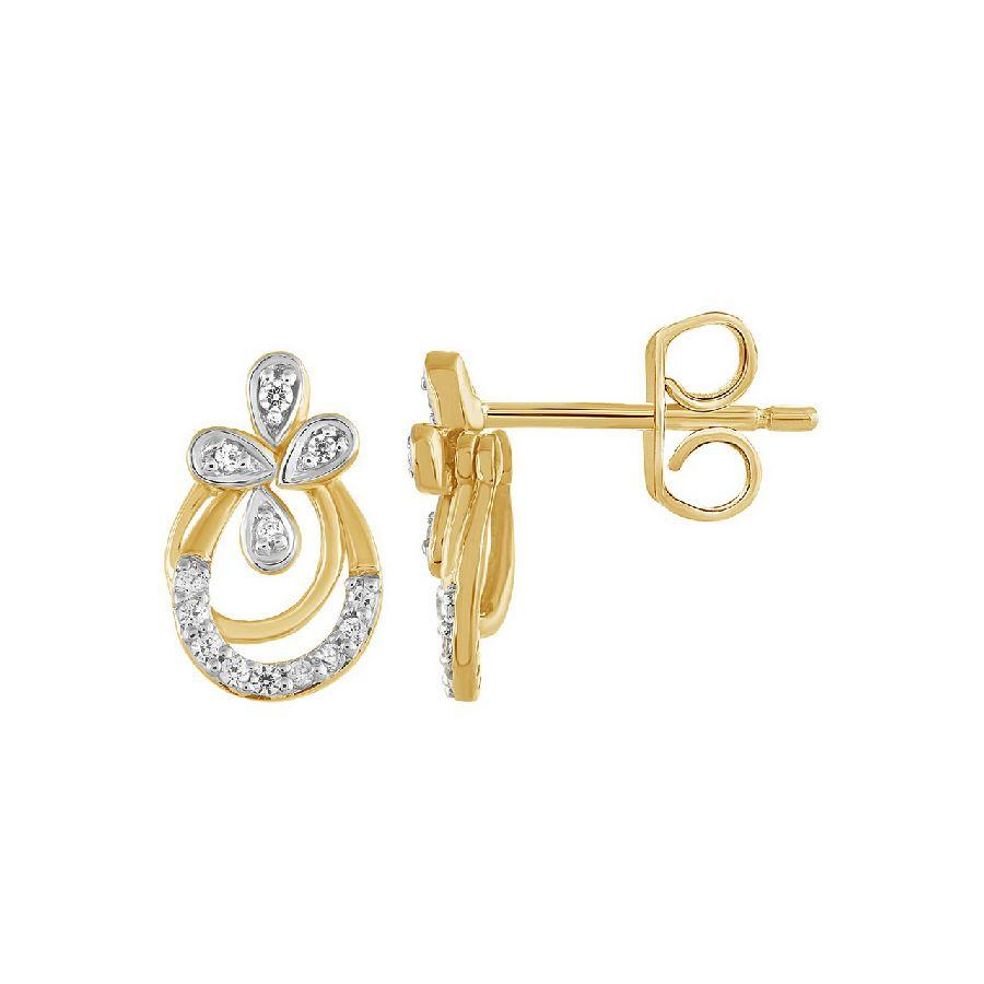 Modish Studs and Tops in Yellow Gold