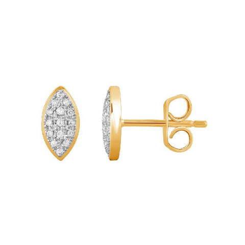 Image of Stylish Studs and Tops in Yellow Gold