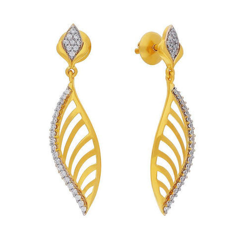 Image of Sparkly Leaf Earring