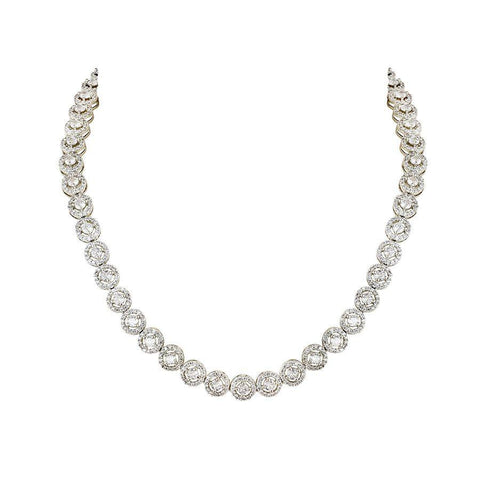 Image of White Solitaire Necklace Set