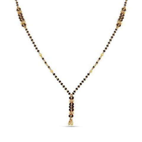 Image of Spiral Weaves Mangalsutra (With Chain)