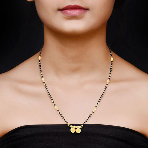 Image of 22 KT Yellow Gold Mangalsutras in 7.26 gms (With Chain)