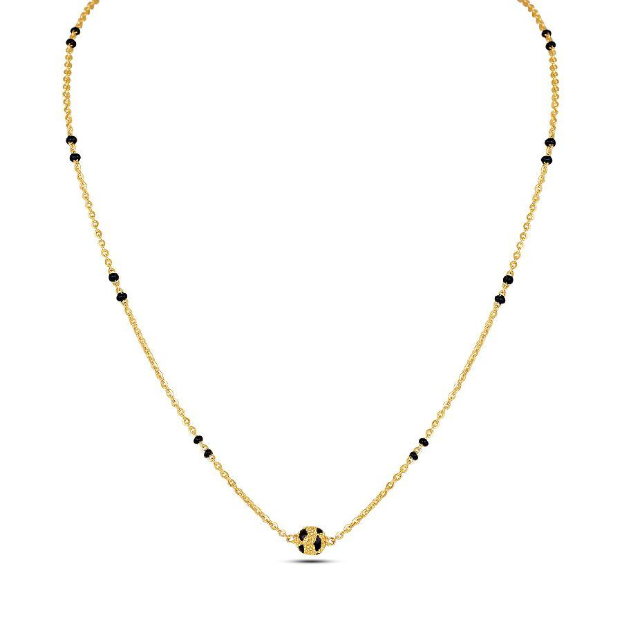 22 KT Yellow Gold Mangalsutras in 5.39 gms (With Chain)